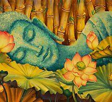 Reclining Buddha by Yuliya Glavnaya