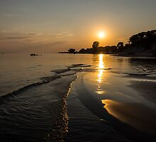 Golden Sands and Gentle Waves - Lake Erie, Ontario, Canada by Georgia Mizuleva