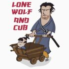 Lone wolf and cub by Greg Vercoe