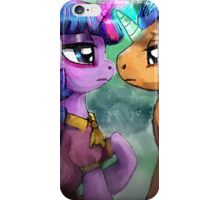 Twilight and Flash are helpless by the river iPhone Case/Skin
