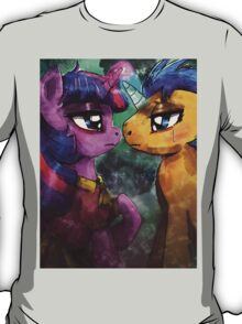 Twilight and Flash are helpless by the river T-Shirt