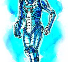 Blue Cyberman by Splinterisart