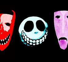 Lock Shock Barrel Masks acrylic by justin13art