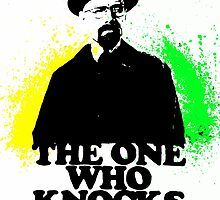 BrBa The One Who Knocks Walter White acrylic watercolor by justin13art