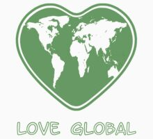 Love Global T-Shirt Emblem Green by Martin Rosenberger