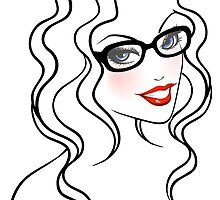 Beautiful woman in glasses by SonneOn