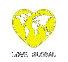 Love Global iPhone Case Yellow by Martin Rosenberger