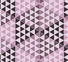 Geometric Cubes - Bold Pink by Aeleina