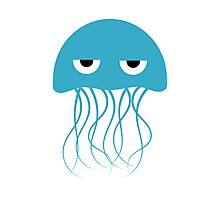 Light Blue Jellyfish Photographic Print