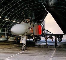 Phantom FGR.2 XV464/U in a Rubb Hangar by Colin Smedley