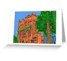 Tower of Terror Disney World Greeting Card