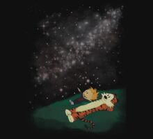 Calvin and Hobbes Star Gazing by ChiChiDesigns