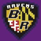 8Bit Ravens Coat of Arms by CrissChords