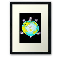 Turtle Shell World Map Framed Print