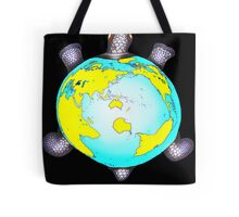 Turtle Shell World Map Tote Bag