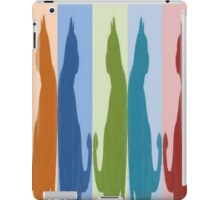 Reflected Images Of A Line Of Cats iPad Case/Skin
