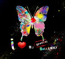 I love my graffiti butterfly by PASLIER Morgan