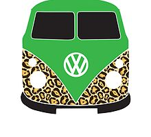 Leopard VW Camper Green by splashgti