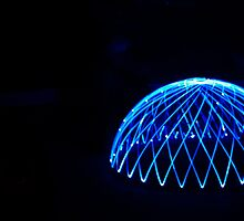 Light trail igloo by Mike Kay