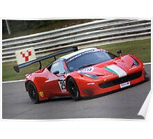 Ferrari 458 GT3 - Cameron and Griffin Poster