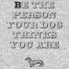 Be the Person - Dachshund by TheFurryCookie