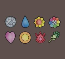 The Kanto Gym Badges by zblues