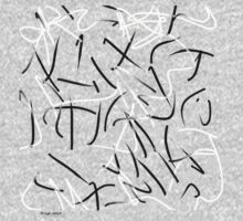 """""""Restless"""" Digital Calligraphy T-Shirt by lynsouthworth"""