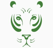 Green Tiger Face T-Shirt