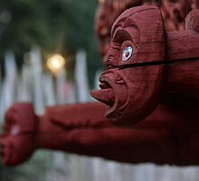 Maori Carvings by Linda Cutche