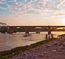 Sunset Over Broadway Bridge by Lisa G. Putman