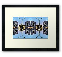 Sign Lantern Moon Framed Print