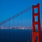 Golden Gate Bridge at Blue Hour by dingobear