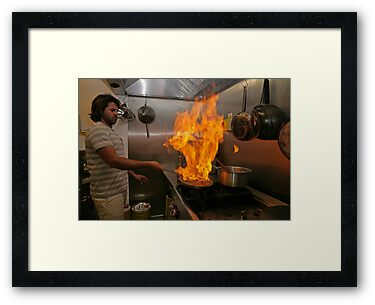 Omar Allibhoy creates a flame dish by Keith Larby