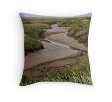 Blakeney mudflats and saltmarsh Throw Pillow