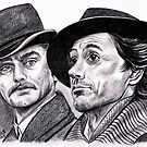 Robert Downey Jr and Jude Law, Sherlock and Watson by jos2507