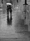Close together in the rain by awefaul