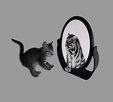 ♥•.¸¸MIRROR OF TRUTH WHAT DO I SEE?..I SEE THE REAL TIGER IN ME ~IPAD CASE♥•.¸¸ LOL by ╰⊰✿ℒᵒᶹᵉ Bonita✿⊱╮ Lalonde✿⊱╮