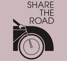 Share the Road - Bicycle and Car by KraPOW