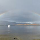 Double Rainbow on Loch Lomond by Susan Dailey