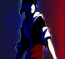 Blue and Red by asphyy