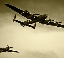 The Lancaster and the Hurricane  by Rob Hawkins
