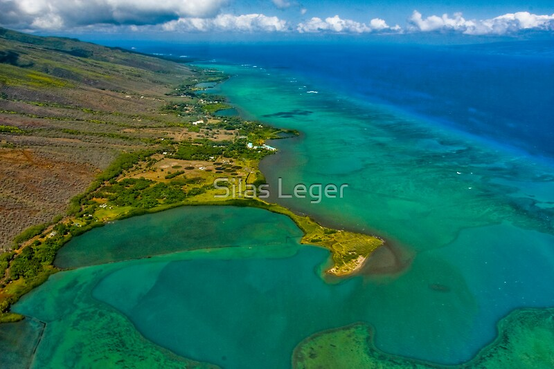 South shore fish pond molokai by silas leger redbubble for Maui shore fishing