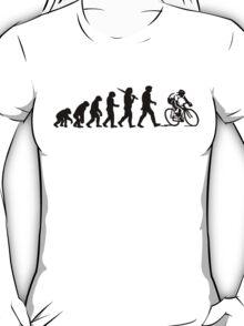 Evolution of a Cyclist Mens Black or Blue Cycling Bike T-Shirt
