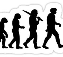 Evolution of a Cyclist Mens Black or Blue Cycling Bike Sticker