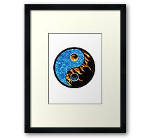 Fire and Water Yin Yang symbol Framed Print