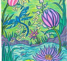 Dragon fly Pond by Dize7