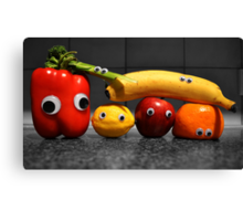 Googly-Eyed Family Canvas Print