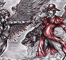 Black and Red - Sebastian vs Alucard by Furiarossa