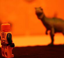 Stormtrooper VS. Dinosaur (Red) by SamWhere