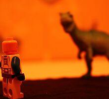 Stormtrooper VS. Dinosaur (Red) by SamWhere